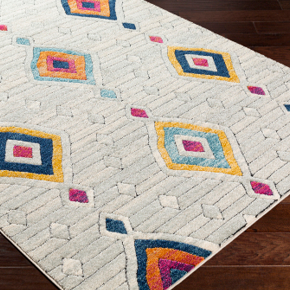 Dwell Chic-Whimsy Multi-Colored Geometric Rug-Rug