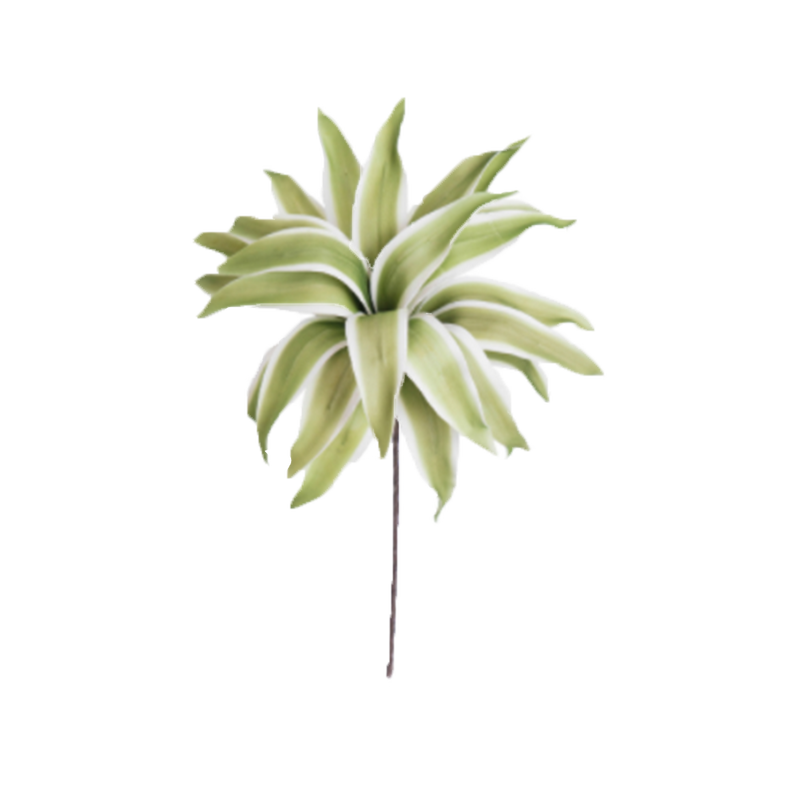 Dwell Chic-White and Green Leaf Vase Filler-Floral