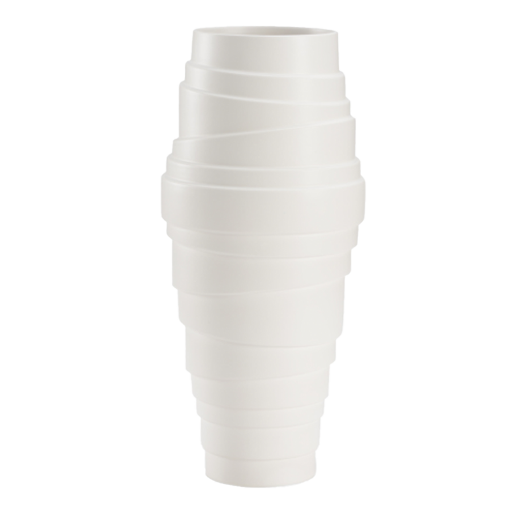 White Ceramic Wrap Vase