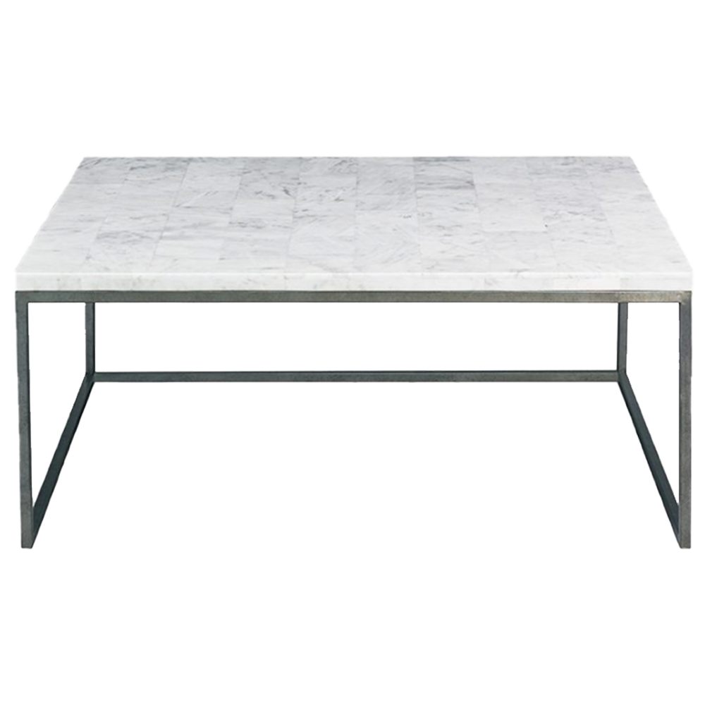 White Stone Coffee Table- Pick up in Store Only