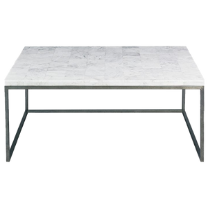 Dwell Chic-White Stone Coffee Table- Pick up in Store Only-Furniture