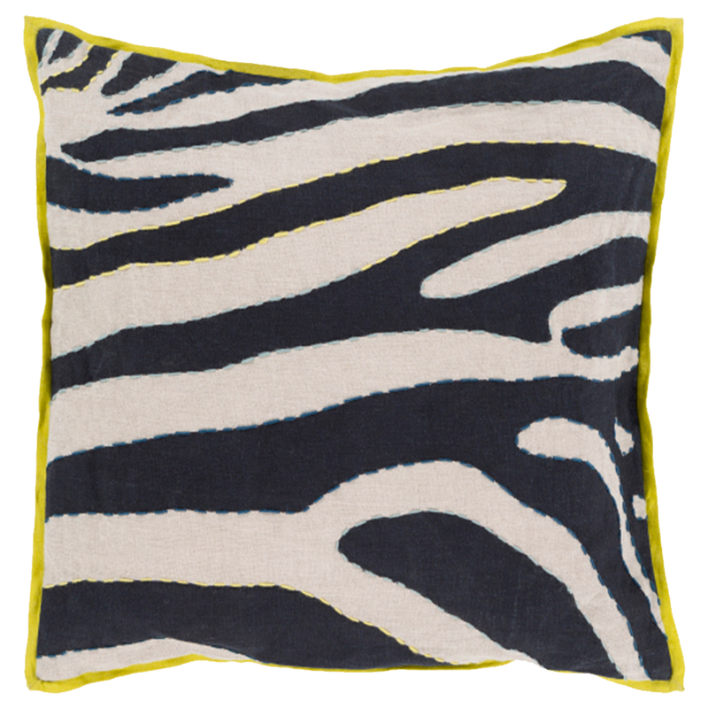Dwell Chic-Wild Stripes Lime Pillow-Pillow
