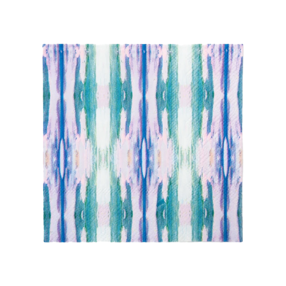 Flower Child Teal Cocktail Napkins-Napkins-Dwell Chic