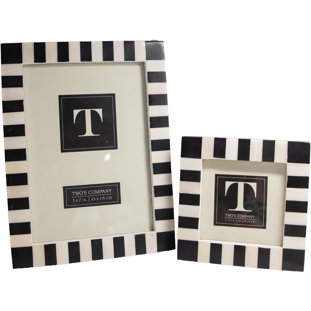 Black and White Striped Frame