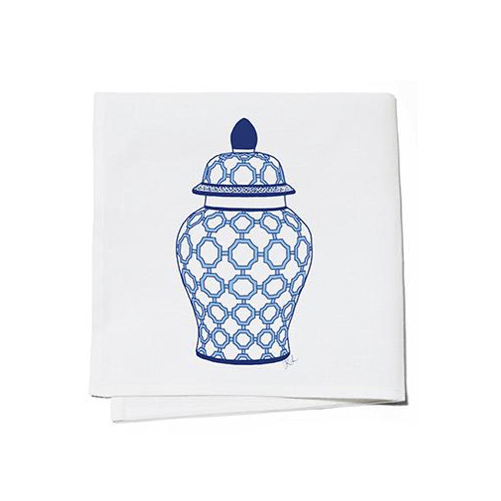 Dwell Chic-Blue and White Ginger Jar Cocktail Napkins-Set of 4-Cocktail Napkins