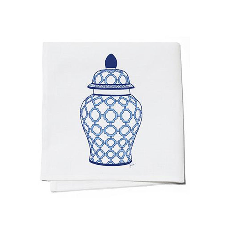 Blue and White Ginger Jar Coctail Napkins-Set of 4
