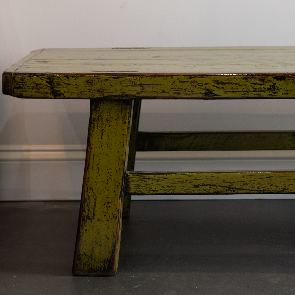 Antique Inspired Green Bench