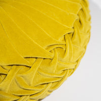 Chartreuse Velvet Round Pillow-Pillow-Dwell Chic