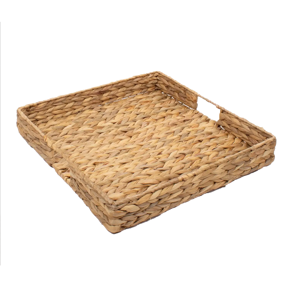 Square Tray - Natural Woven-Tray-Dwell Chic