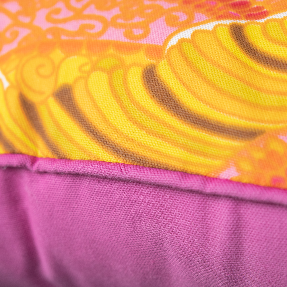 Pink, Orange and Yellow Deco Pillow