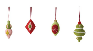 Wool Felt Ornaments- Set of 4