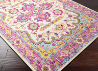 Purple and Yellow Turkish Inspired Rug