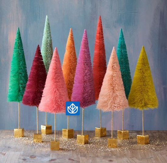 Large Colorful Sisal Tree Decoration