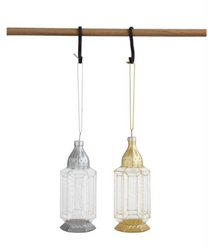 Glass Lantern Ornaments-Set of 2