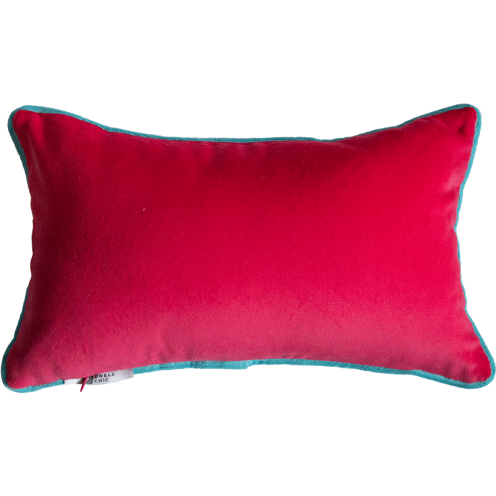Dwell Chic-Pink Velvet and White Tiger Pillow-Pillow