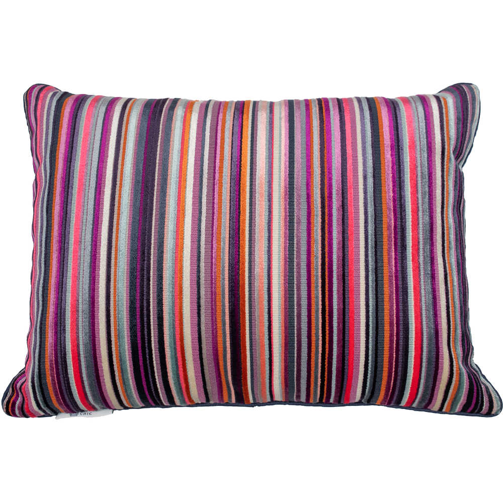 Mixed Pinks Striped Pillow