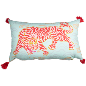 Tibetan Tiger Lumbar Pillow-Pillow-Dwell Chic