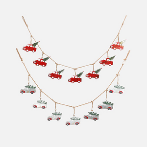"Dwell Chic-Christmas Truck Garland 60"" Available in 2 colors-Garland"