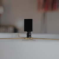 Gloss Black and White Table Lamp