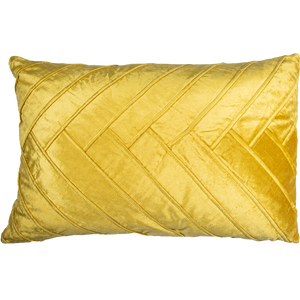 Yellow Velvet Lumbar Pillow-Pillow-Dwell Chic