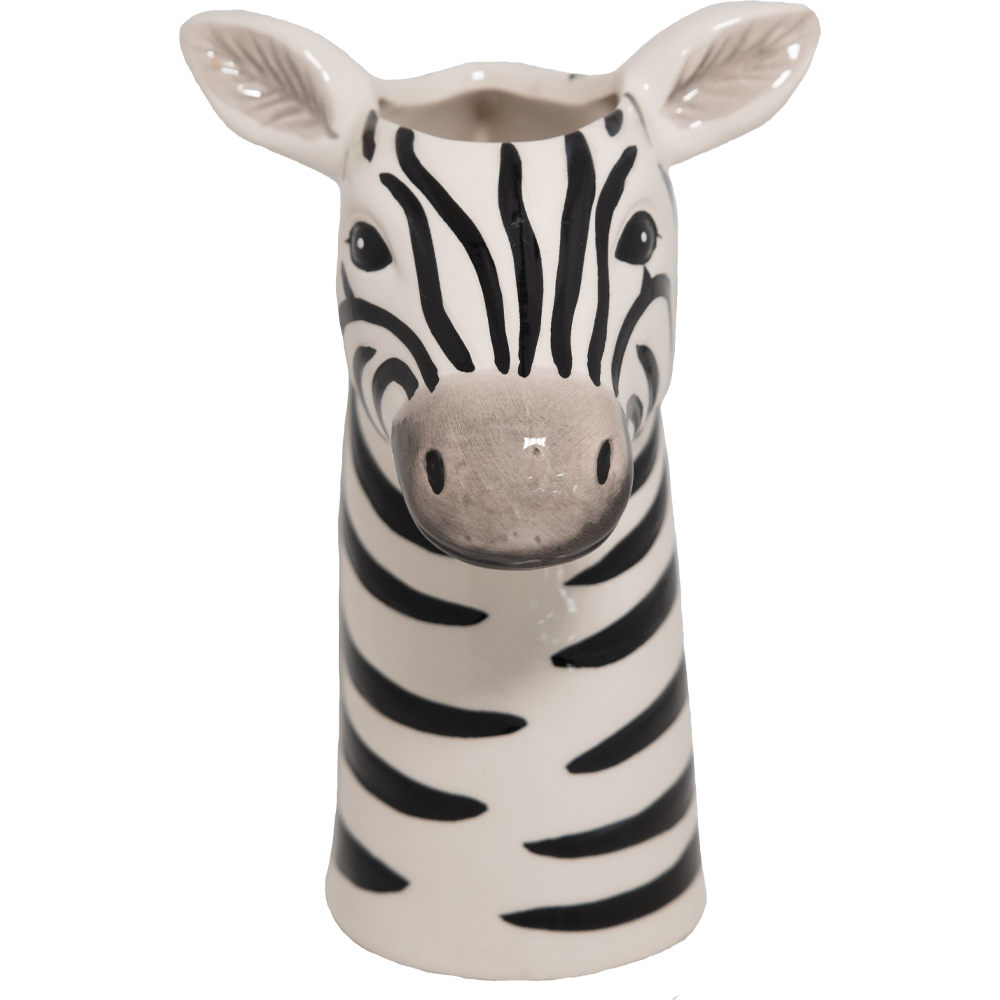 Dwell Chic-It's a Zebra! Head Vase-Planter