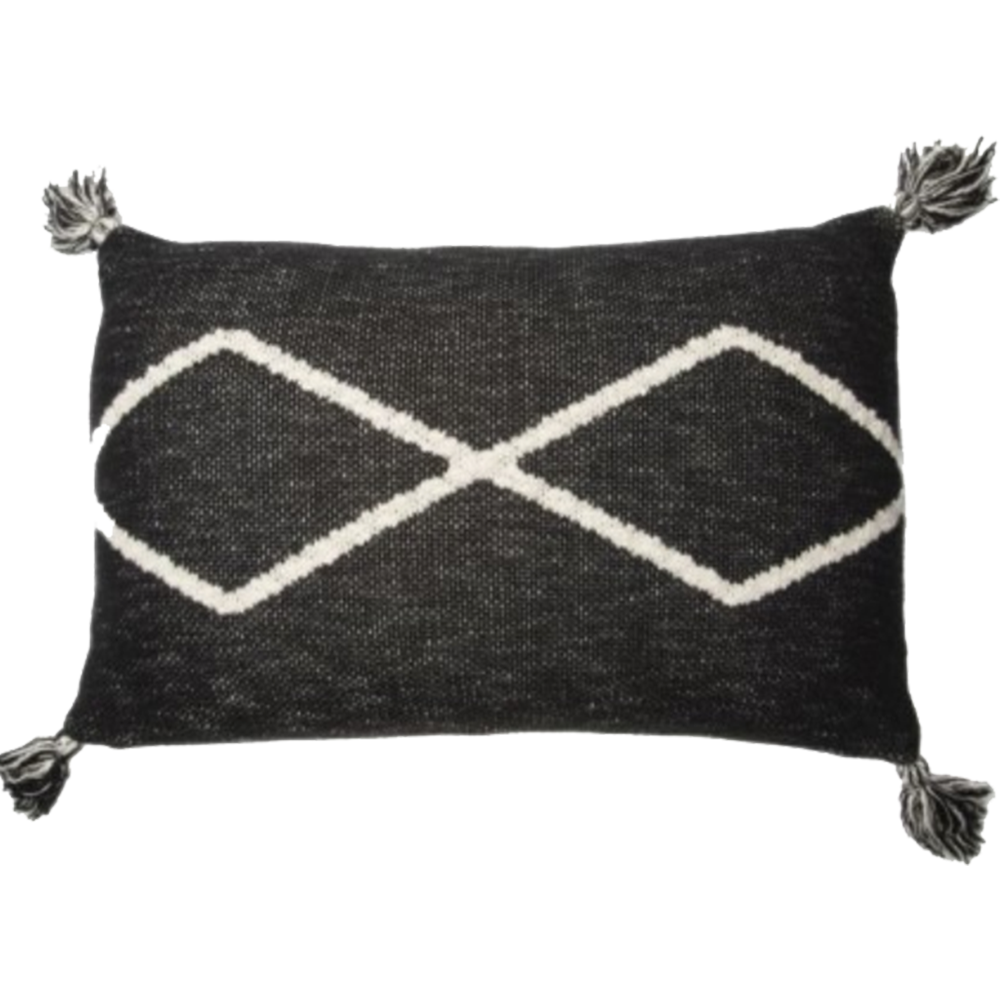 Black Knitted Pillow