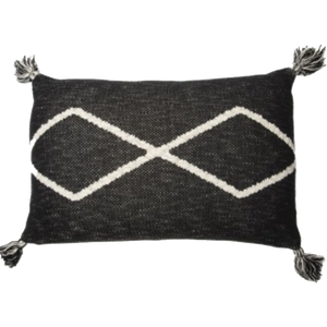 Dwell Chic-Black Knitted Pillow-Pillow