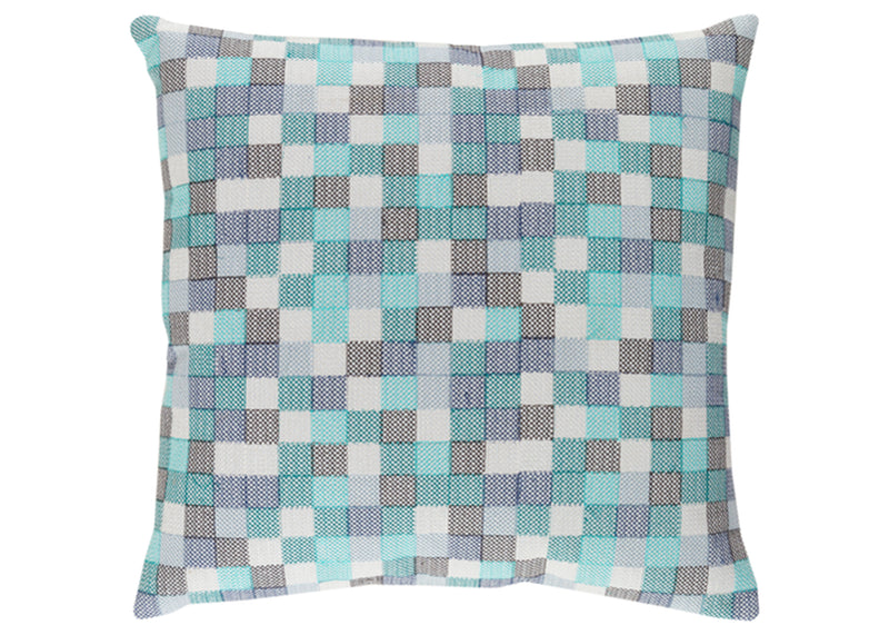 Blue and Teal Geometric Pillow Cover (insert not included)