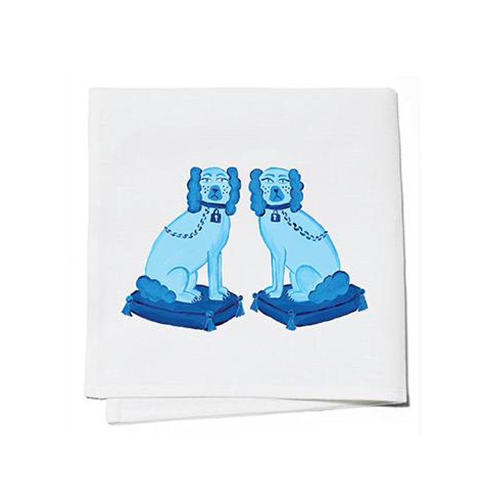 Dwell Chic-Foo Dogs Cocktail Napkins-Set of 4-Cocktail Napkin