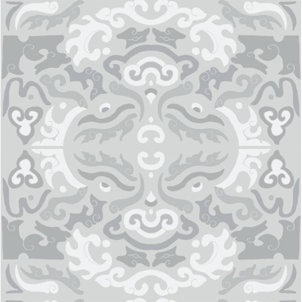 Grey Asian Inspired Peel & Stick Wallpaper