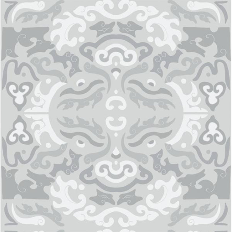 Dwell Chic-Grey Asian Inspired Peel & Stick Wallpaper-Wallpaper