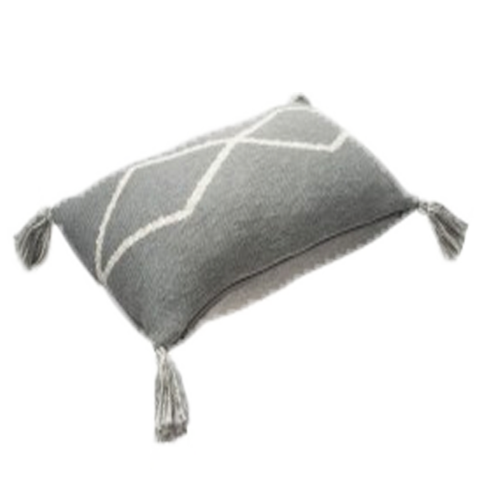 Dwell Chic-Grey Knitted Pillow-Pillow