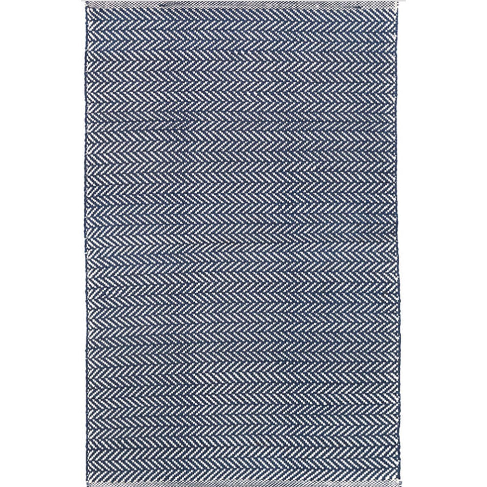 Indigo Herringbone Indoor/Outdoor Rug