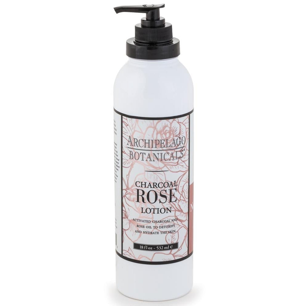 CHARCOAL ROSE 18OZ LOTION-Bath and Body-Dwell Chic