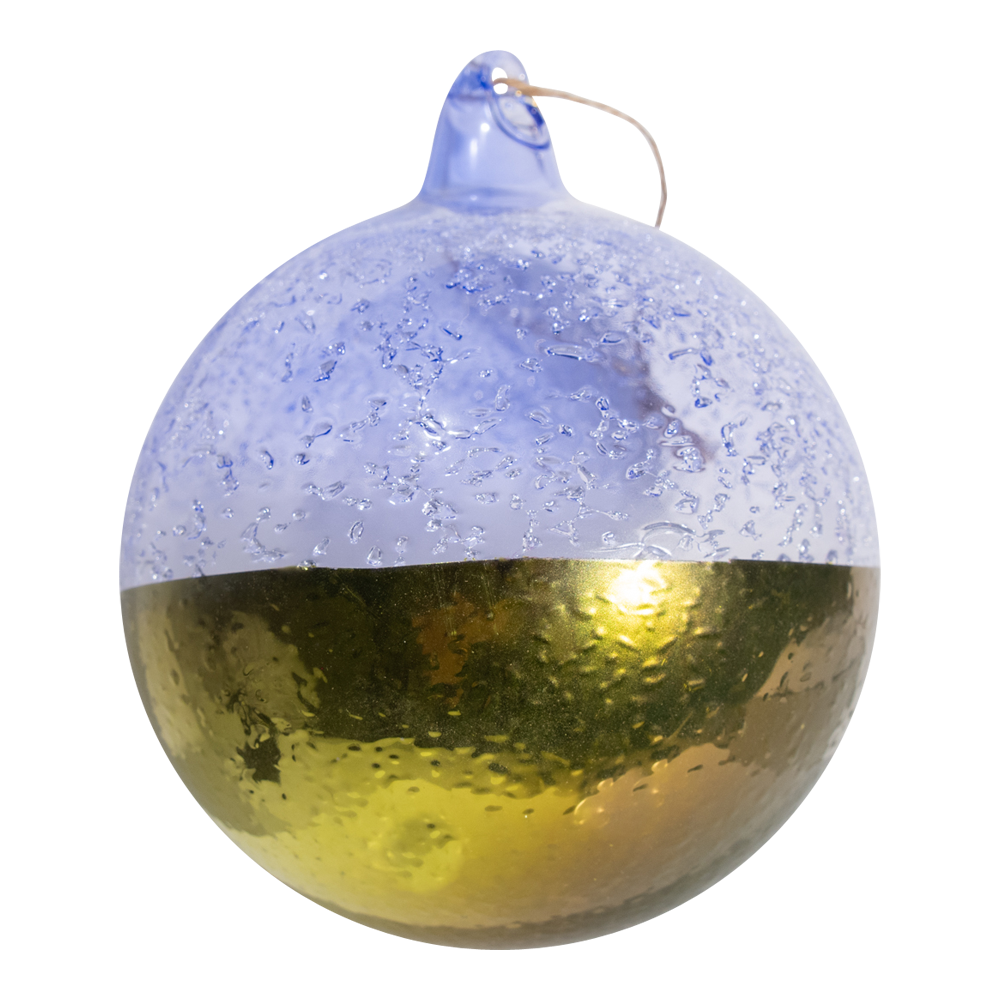 Dwell Chic-Lavendar and Gold Two Tone Colorful Glass Ornament-Ornaments