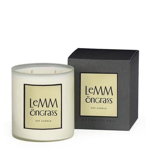 LEMMONGRASS BOXED CANDLE-Candle-Dwell Chic