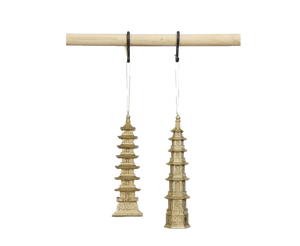Pagoda Ornament- Set of 2