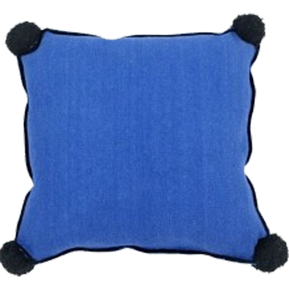 Washable Sapphire Blue Pillow