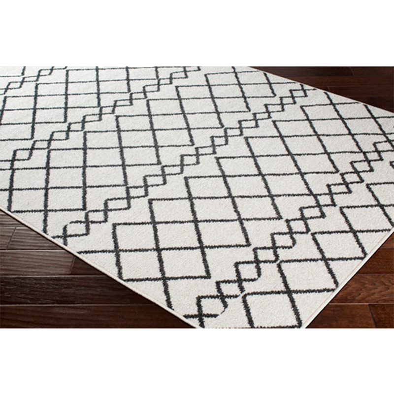 Dwell Chic-Egyptian Diamond Rug in Black and White-Rug
