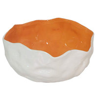 Dwell Chic-Tangerine and White Decorative Bowl-accessories