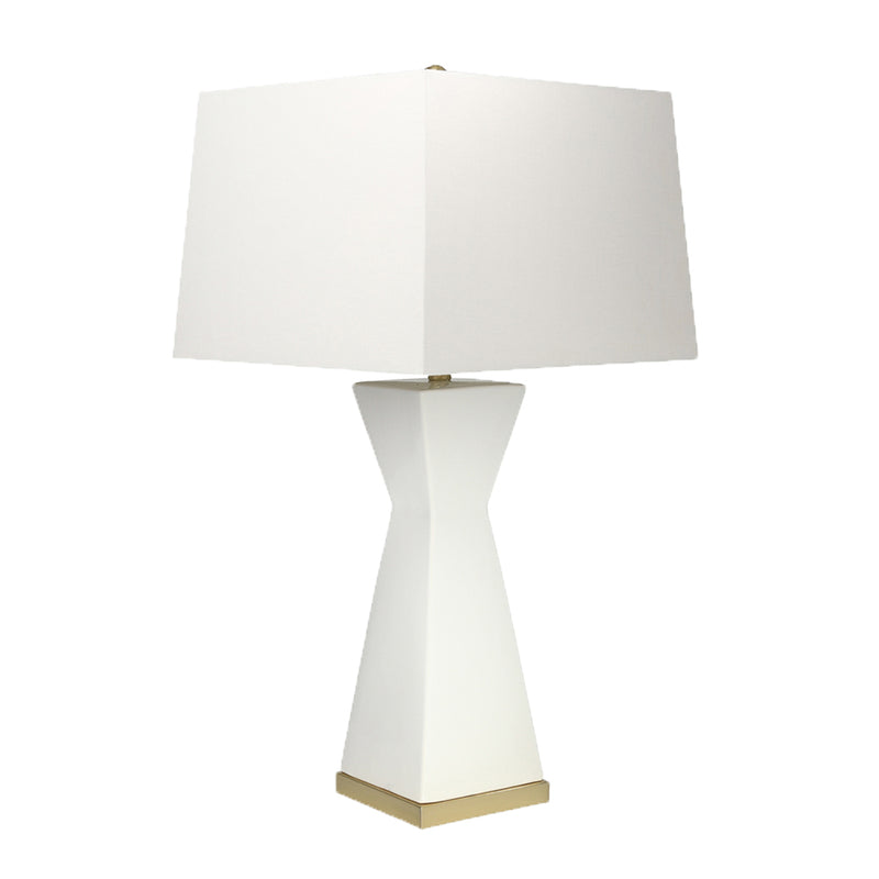 White Hourglass Table Lamp