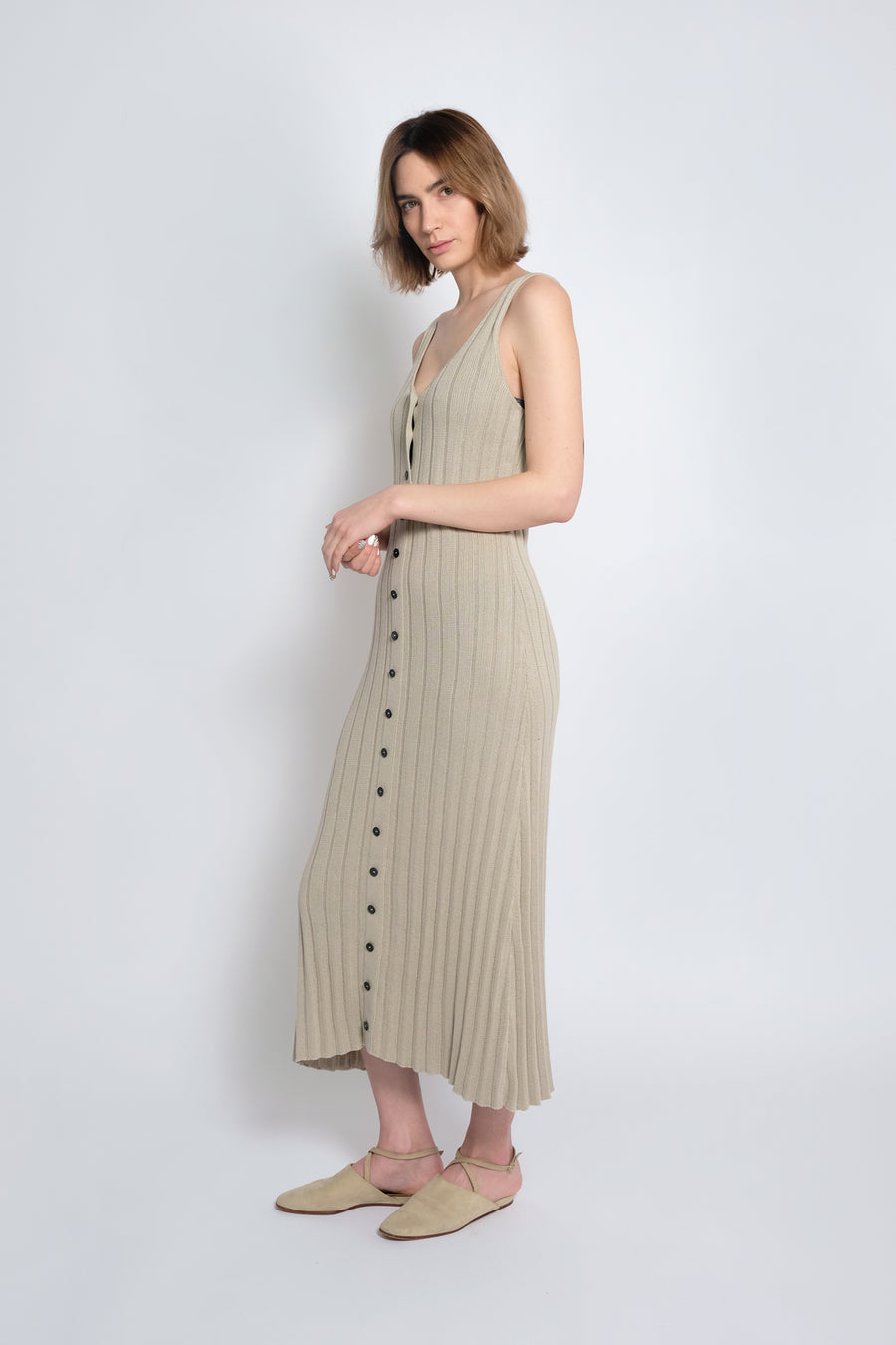 Sea Salt Accordion Pleated Dress
