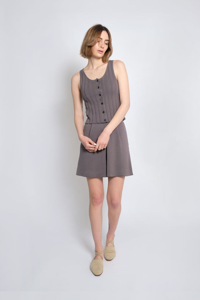 Smoke Accordion Pleated Tank