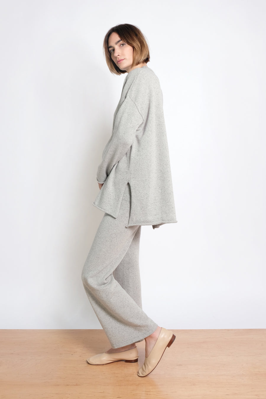 Speckle Grey Hi-Lo Sweater