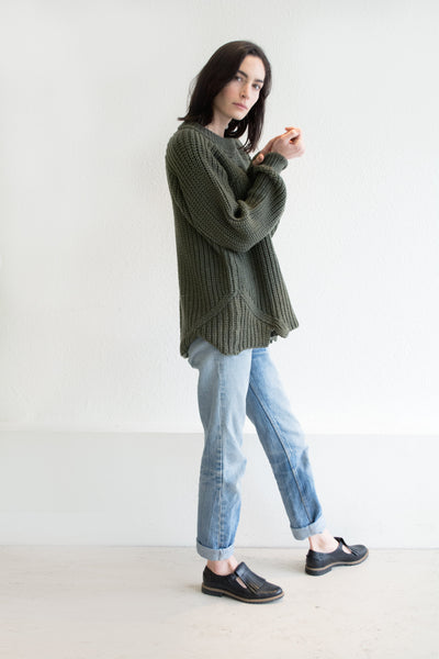 Olive Arch Sweater