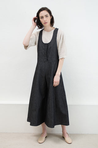 Black Denim Arch Overall