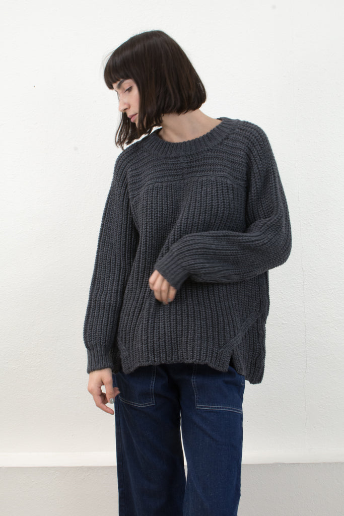 Melange Grey Arch Sweater