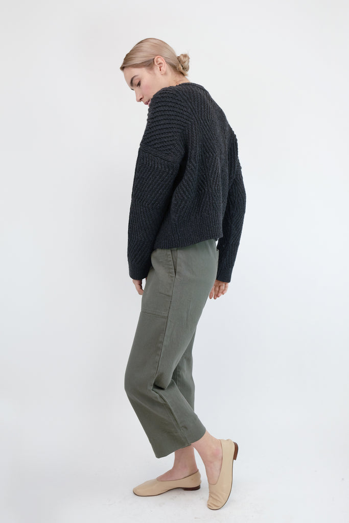 Melange Black Bevel Sweater