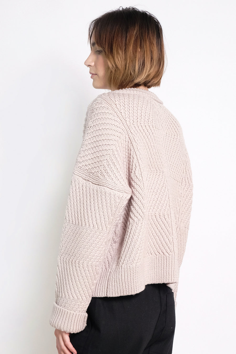 Chalk Bevel Sweater