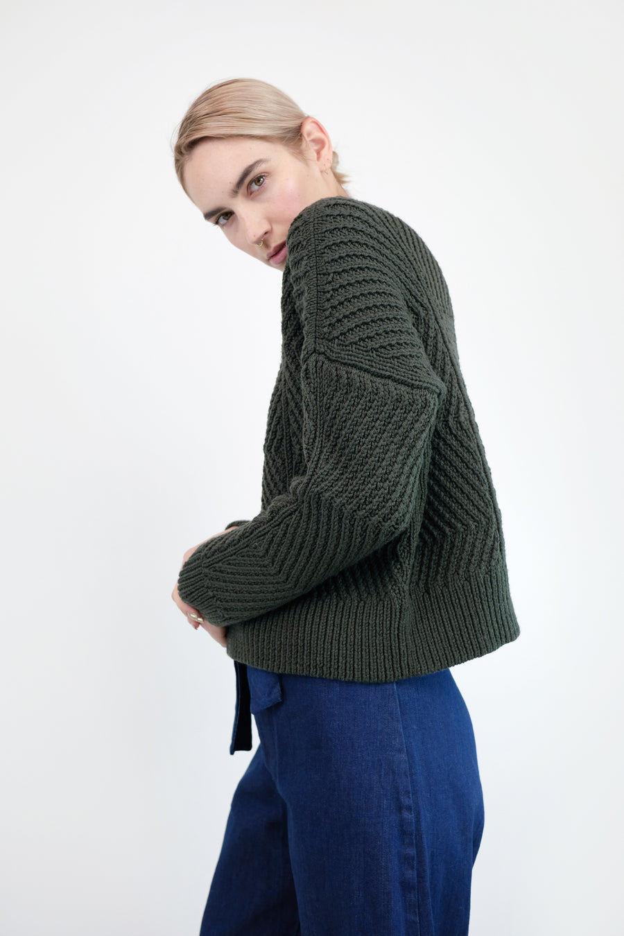 Forest Bevel Sweater